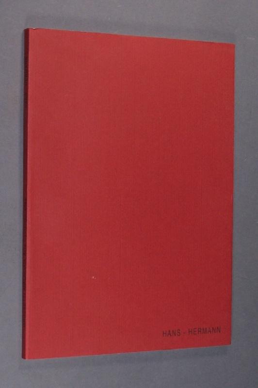 """Hans Herman. A cura di Angela Madesani. - II libro e edito in occasione della mostra """"FREEDOM"""" di Hans-Hermann nella Galleria Grossetti Annunciata Arte Contemporanea - Milano Inaugurazione: 4 febbraio 2004."""