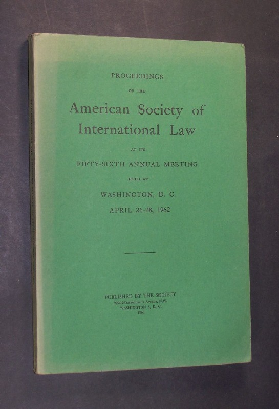 Proceedings of the American Society of International Law at it