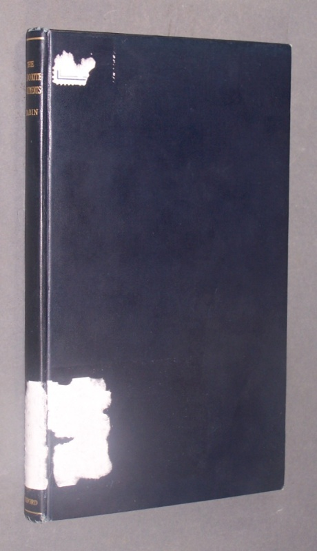 Rabin, Chaim (Hrsg.): The Zadokite Documents. I. The Admonition, II. The Laws. Edited with a translation and notes by Chaim Rabin.