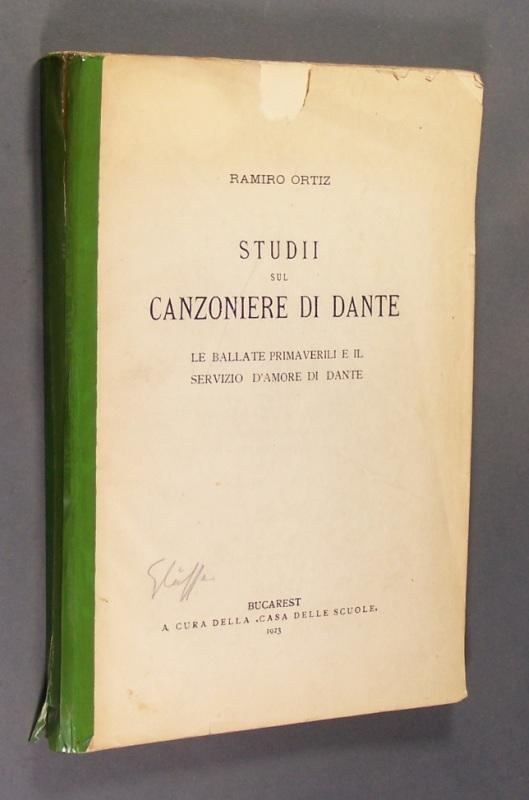 Studii sul Canzoniere di Dante. Le ballate primaverili e il servizio d