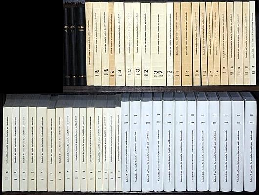 Zeitschrift des Vereins für hessische Geschichte und Landeskunde. Band 63-116. Jahrgänge 1952-2011. 60 Jahrgänge in 51 Bänden (= bis 2011 vollständige Nachkriegsreihe).