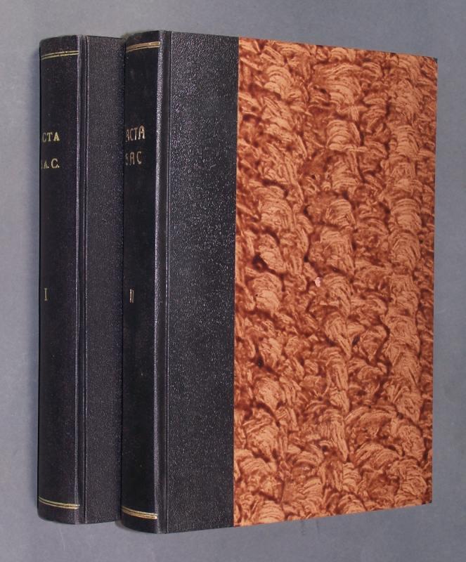 A C T A. Societatis Apostolatus Catholici. Solis societatis sodalibus destinata. Jeweils 14 Teile in 2 Bände: Volume I, Num. 1-14, 1947-1950. Volume II, Num. 1-14, 1951-1954. 2 Bände; Jahrgang 1947-1954.