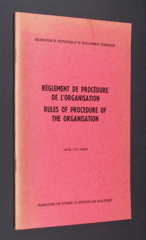 Règlement de procédure de l