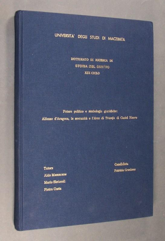 Potere politico e simbologie giuridiche: Alfonso d
