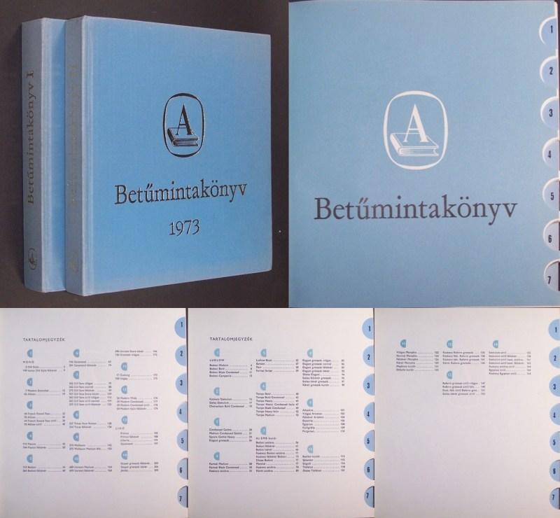 Betümintakönyv I + II. 2 Bände/Volumes.