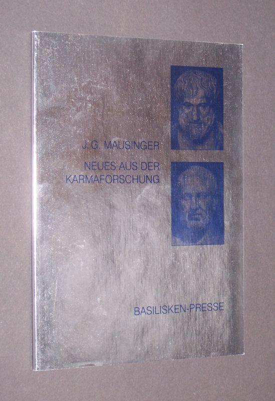 Neues aus der Karmaforschung: historische Bildfunde in geisteswissenschaftlicher Sicht. [Von Johann Georg Mausinger]. (= Nebensachen und Seitenblicke. Heft 2).