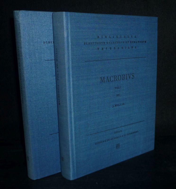 Saturnalia. Apparatu critico instruxit. In somnium Scipionis commentarios. Selecta varietate lectionis ornavit Iacobus Willis. Band 1-2 komplett. [Von Ambrosius Theodosius Macrobius]. In 2 Bänden (= so vollständig).