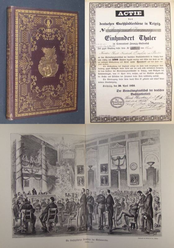 Das alte und neue Buchhändlerheim. Ein Gedenkbuch zur Erinnerung an die feierliche Einweihung des deutschen Buchhändlerhauses am 29. April 1888.