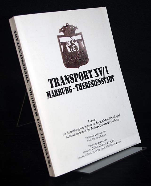 Transport XV/1: Marburg - Theresienstadt. Reader zur Ausstellung des Instituts für Europäische Ethnologie/Kulturwissenschaft der Philipps-Universität Marburg. Herausgegeben u.a. von Karl Braun. Als Typoskript gedruckt.