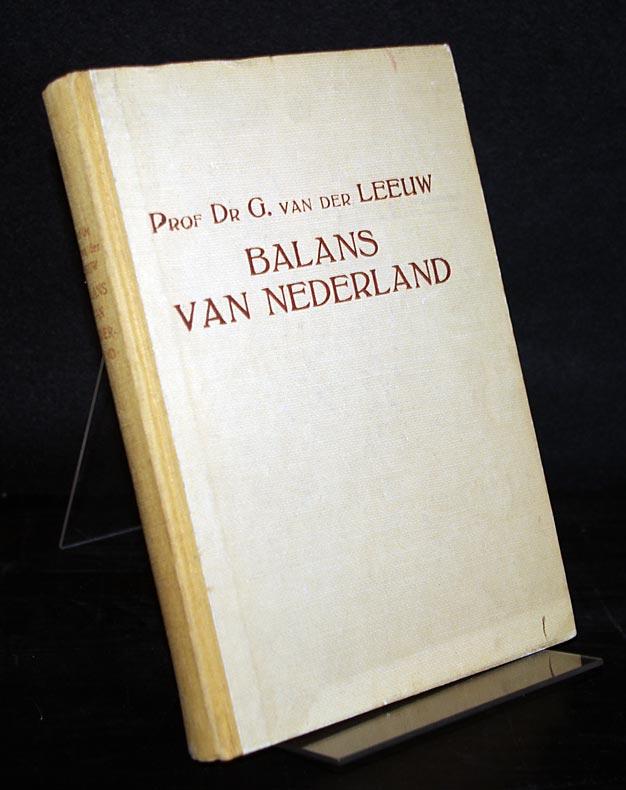 Balans van Nederland. Door G. van der Leeuw.