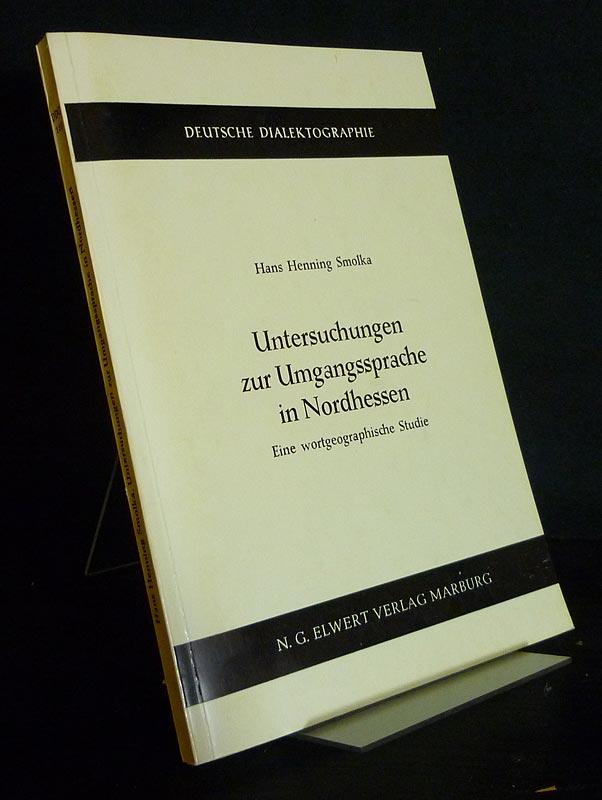 Smolka, Hans Henning: Untersuchungen zur Umgangssprache in Nordhessen. Eine wortgeographische Studie. Von Hans Henning Smolka. (= Deutsche Dialektographie, Band 110). Als Typoskript gedruckt.