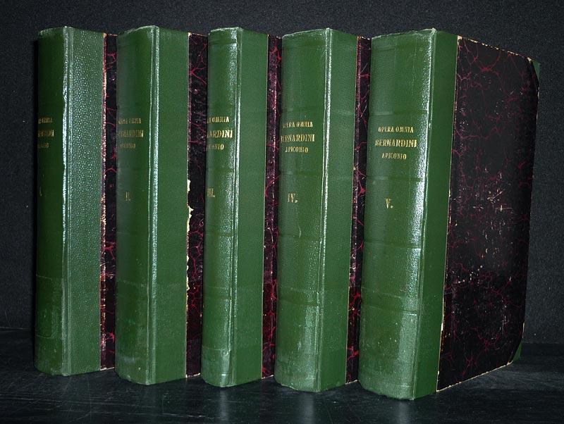 Bernardin de Picquigny: Opera omnia Bernardini a Piconio. Ordinis cappuccinorum. [5 Bände]. Una primum in lucem edita recognita diligenter cum dissertatione praevia. 5 Bände (= vollständig).
