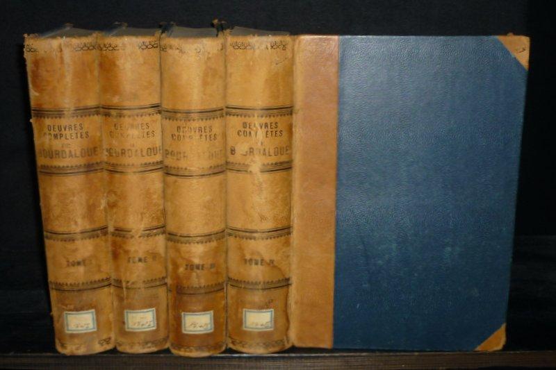 Oeuvres completes de Bourdaloue. [4 Bände]. - Tome 1: Vie de Bourdaloue. Sermons pour l