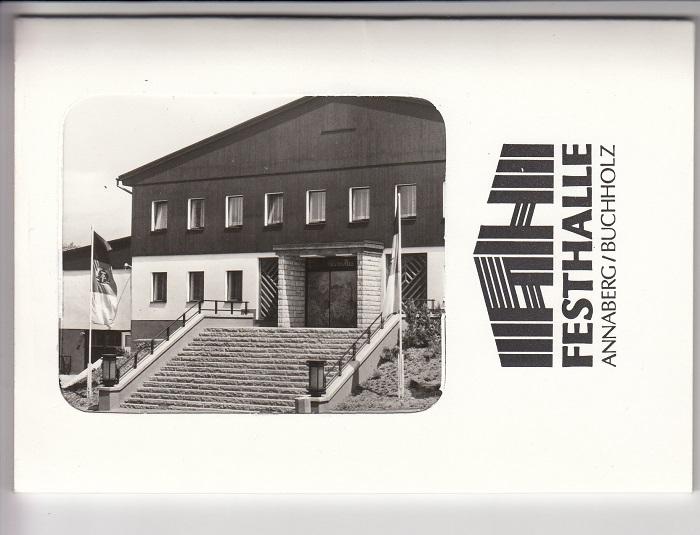Festhalle Annaberg-Buchholz. Fotoserie. Schwarzweißfotos.