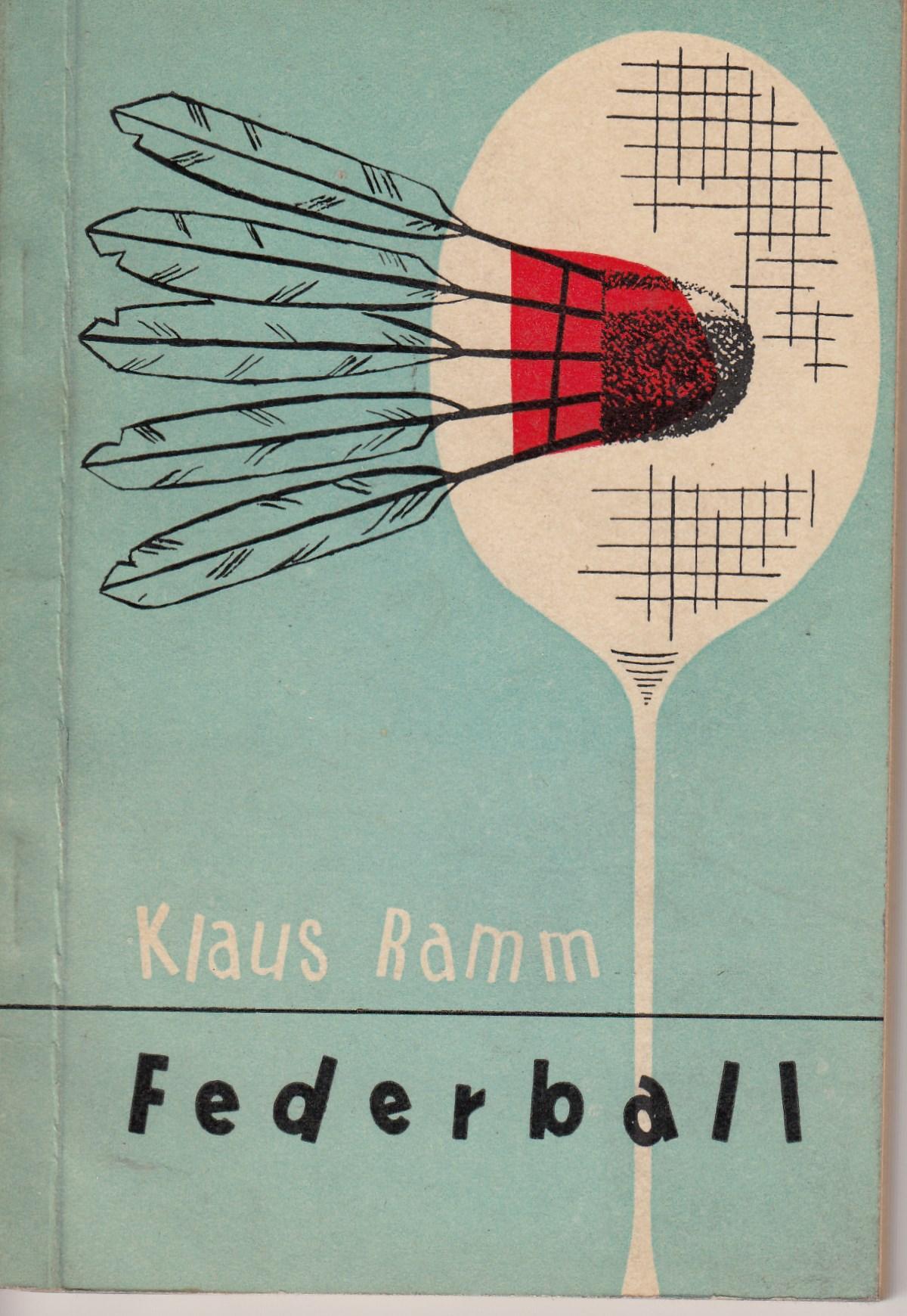 Federball. Ein Büchlein mit Spielregeln und Wettspielordnung der Sportart. Mit 12 Fotos, Zeichnungen von Gert Marhold, 7 Schemata. 2. überarbeitete und verbesserte Aufl.,