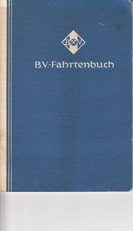B.V.-Fahrtenbuch 1938.