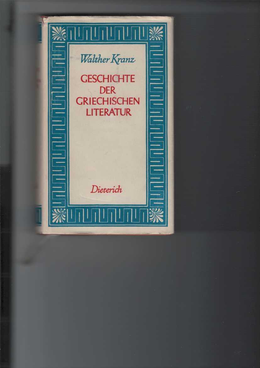 Geschichte der griechischen Literatur. Sammlung Dieterich Band 42. Mit 9 Abbildungen. 4. Auflage.