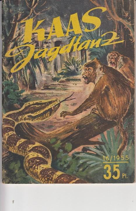 """Kaas Jagdtanz. Erzählung aus dem """"Dschungelbuch"""". """"Kleine Jugendreihe"""", Heft 16/ 1955. Illustrationen von Heinz Rammelt. 6. Jahrgang, 2. Augustheft."""