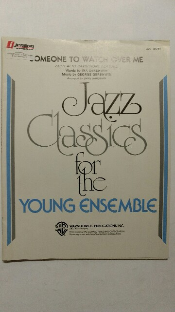 Someone to watch over me. Jazz classics for the young ensemble. k.A. Full Score.