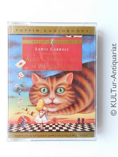 Alice in Wonderland / Puffin Classics (2 MCs). UK-Auflage, 2 Hörcassetten m. farbill. Einlage in OVP, Laufzeit ca. 2 1/2 Stunden.