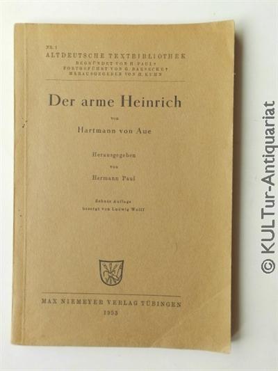 Der arme Heinrich. 10. Auflage, Heft Nr. 3 - altdeutsche Textbibliothek.