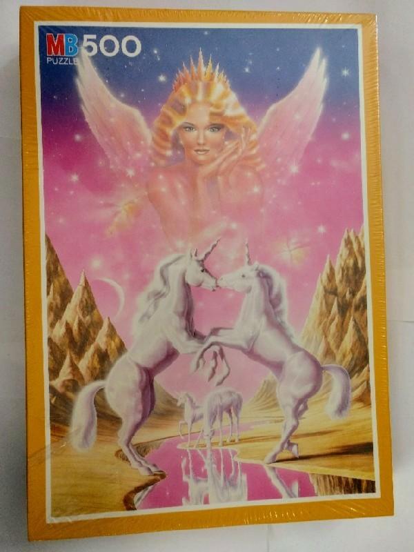 MB 500 Teile Puzzle. Unicorn Angel, Einhörner Engel, Nr. 13607.223. Nr. 13607223.