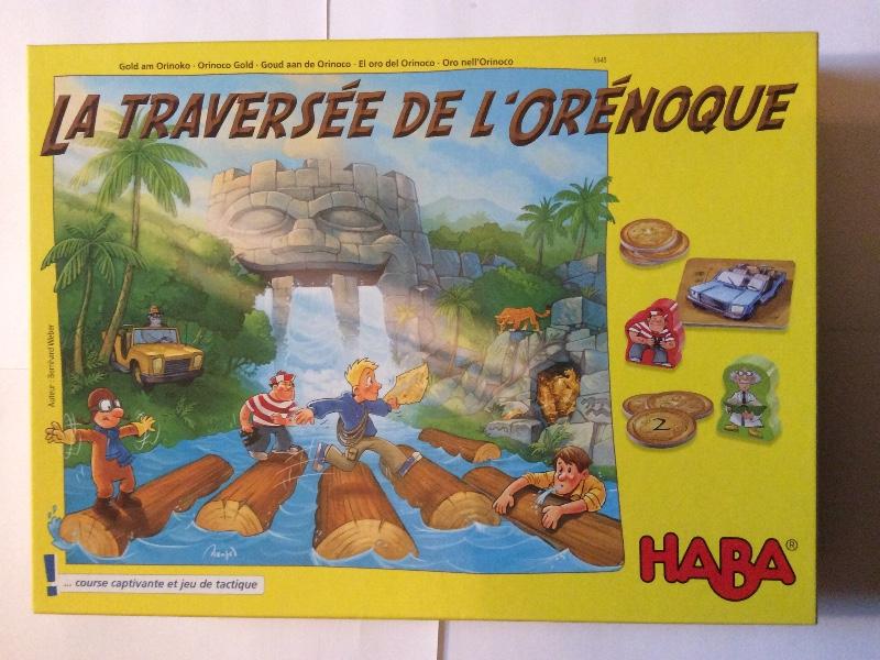 Haba 5945 La Traversée de l´orénoque. Gold am Orinoko von Bernhard Weber. Für 2-4 Spieler, ab 7 Jahren. Spielzeit ca 15-20 Min.