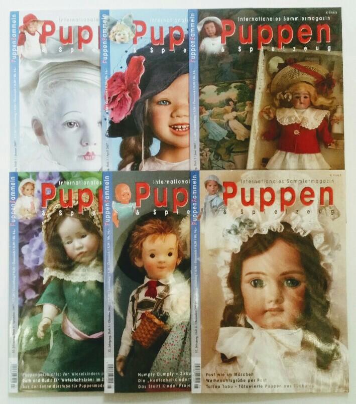 Puppen & Spielzeug - Internationales Sammlermagazin 32. Jahrgang 2007 6 Hefte, komplett.