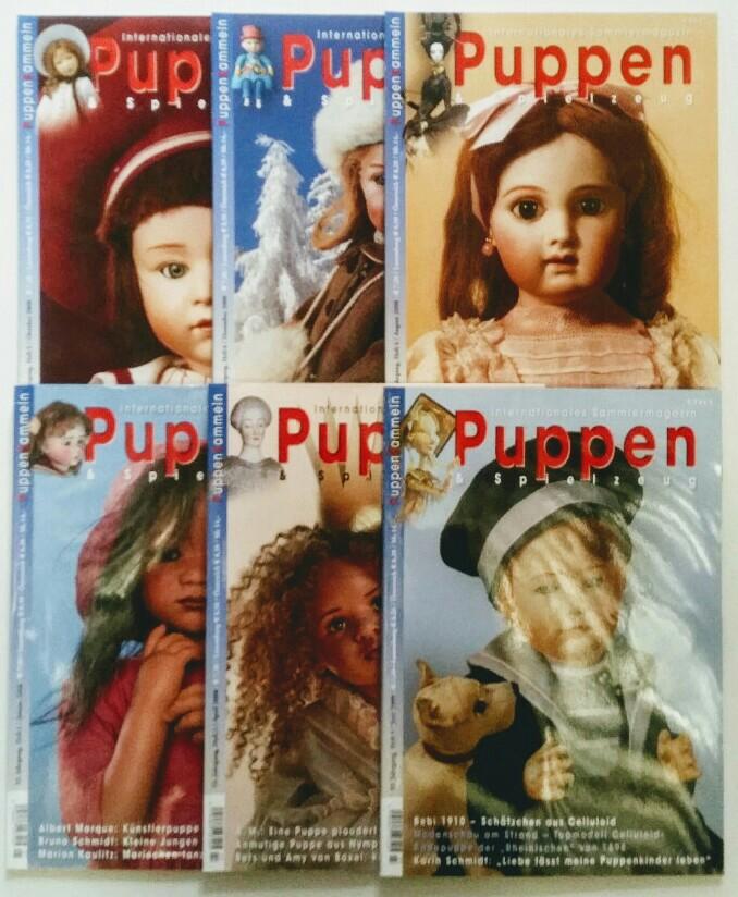 Puppen & Spielzeug - Internationales Sammlermagazin 33. Jahrgang 2008 6 Hefte, komplett.