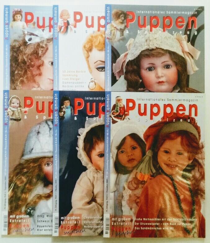 Puppen & Spielzeug - Internationales Sammlermagazin 34. Jahrgang 2009 6 Hefte, komplett.