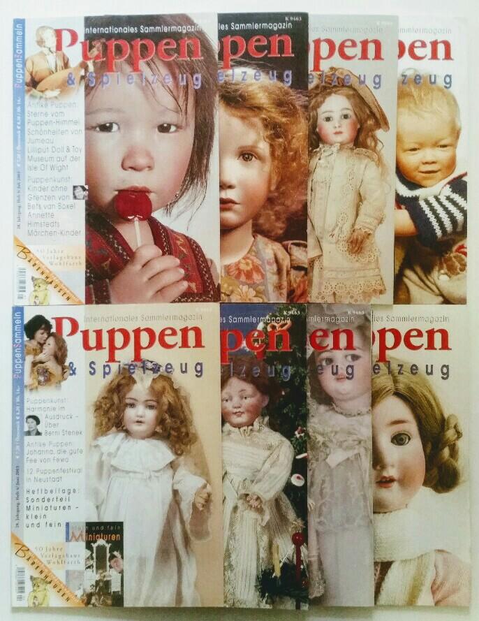 Puppen & Spielzeug - Internationales Sammlermagazin 28. Jahrgang 2003 8 Hefte, komplett.