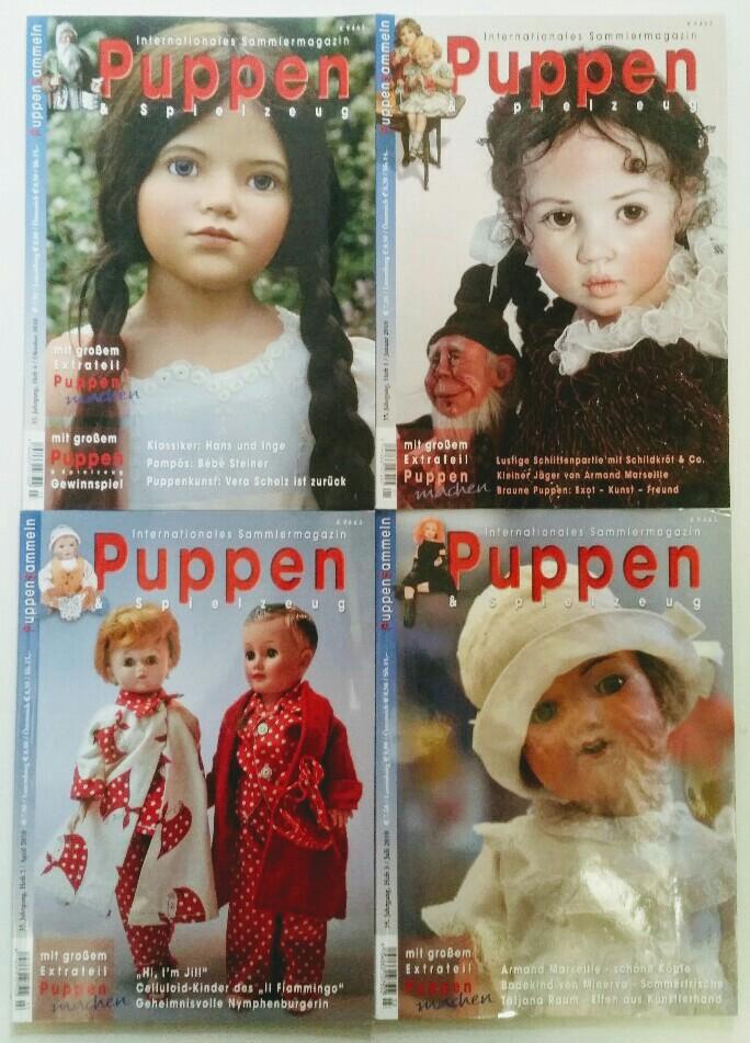 Puppen & Spielzeug - Internationales Sammlermagazin 35. Jahrgang 2010 4 Hefte, komplett.