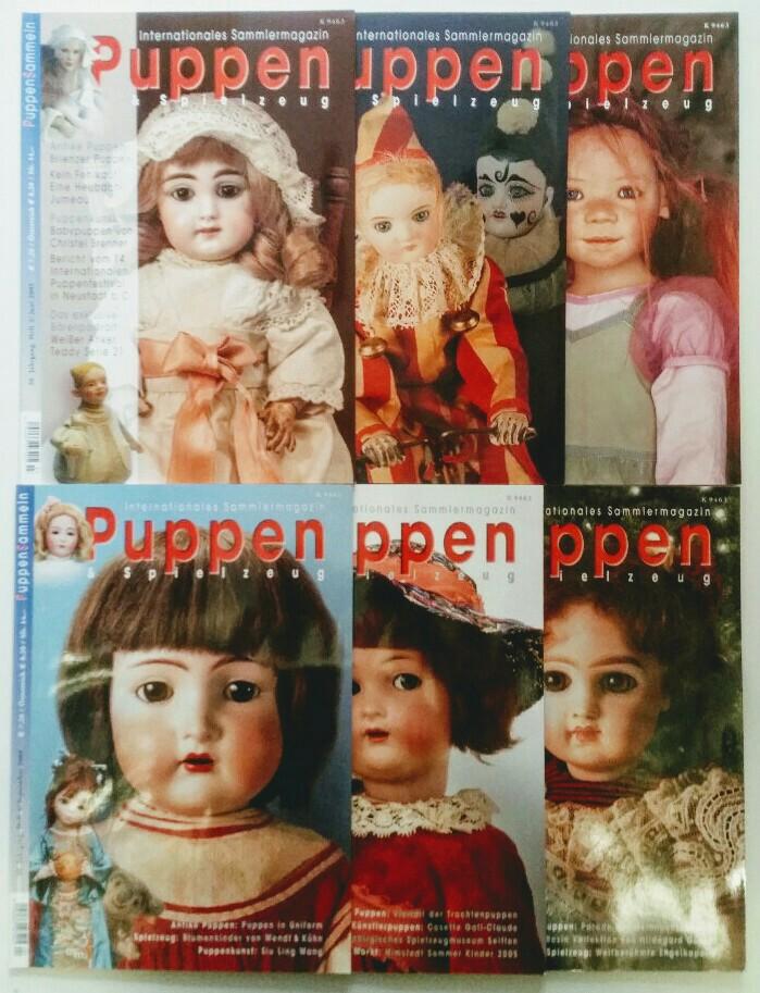 Puppen & Spielzeug - Internationales Sammlermagazin 30. Jahrgang 2005 6 Hefte, komplett.
