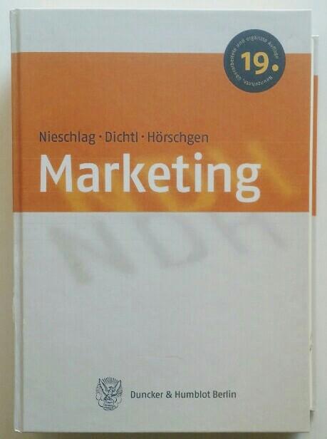 Marketing. 19., überarb. und erg. Aufl.