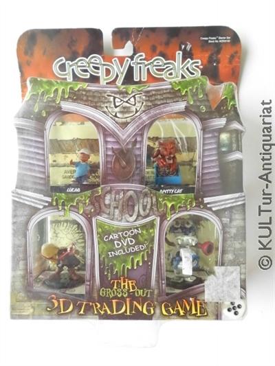 creepy freaks Starter Set - The Gross-Out 3D Trading Card Game + DVD. WZK8100.