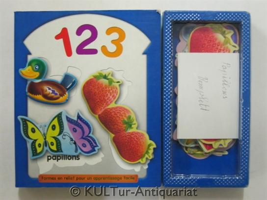 123 papillons - formes en relief pour un apprentissage facile, 20 Teile. Französische Ausgabe.