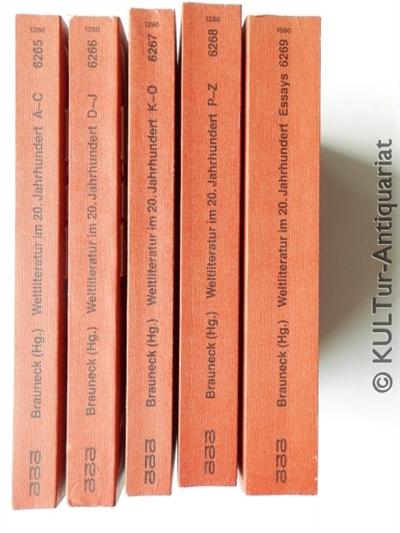 Weltliteratur im  20. [zwanzigsten] Jahrhundert. Bd. 1: Autoren A - C; Bd. 2: Autoren D - J; Bd. 3: Autoren K - O; Bd. 4: Autoren P - Z; Bd. 5: Essays Daten Bibliographie. 5 Bde.