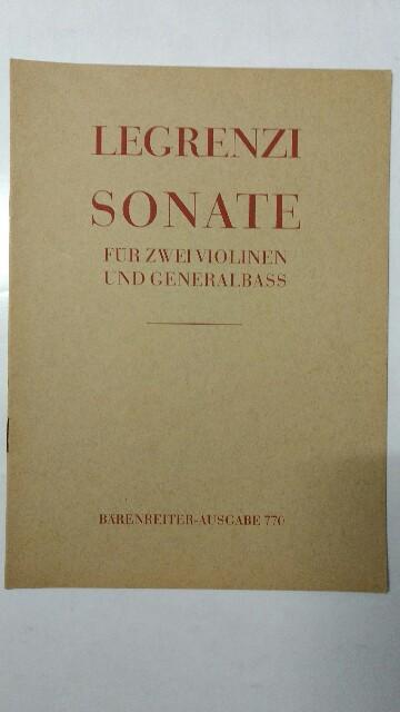 Sonate G-Dur für zwei Violonen und Generalbass. Auflage n.a.