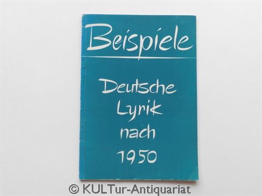 Beispiele. Deutsche Lyrik nach 1950. Eine Auswahl für Höhere Schulen.  1. Auflage. - Heidi, Gidion und Gidion Jürgen