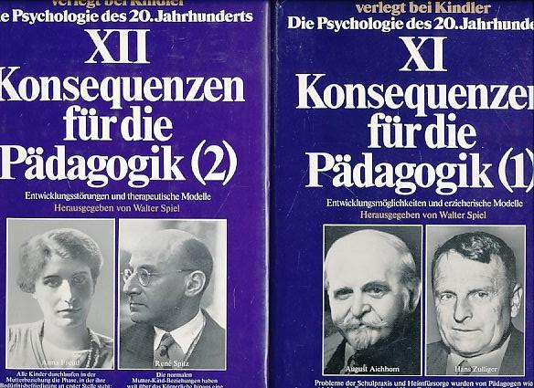 (2 Bände) Konsequenzen für die Pädagogik (1 und 2). Entwicklungsmöglichkeiten und erzieherische Modelle und: Entwicklungsstörungen und Therapeutische Modelle. Psychologie des 20. Jahrhunderts; Bd. XI und XII.