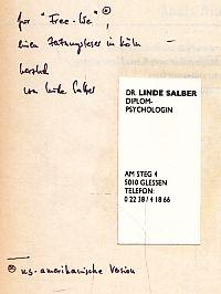 Anais Nin. Mit Selbstzeugnissen und Bilddokumenten. rororo Monographie. Orig.-Ausg. - Salber, Linde