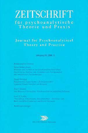 (4 Bände) Jahrgang XV. Zeitschrift für psychoanalytische Theorie und Praxis. 2000. Journal for Psychoanalytical Theory and Practice. Heft 1 - 4. Kompletter Jahrgang 2000.