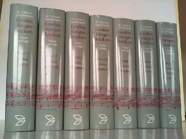 Großes Sängerlexikon. Hier Band 1-7 in 7 Büchern komplett!  4., erweiterte und aktuallisierte Auflage. - Kutsch, Karl-Josef und Leo Riemens