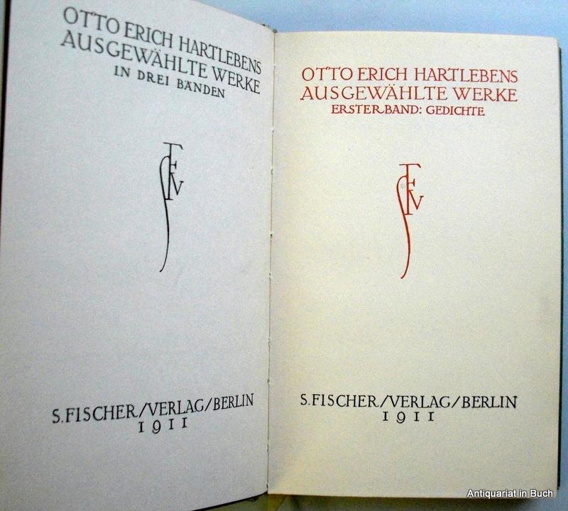 Ausgewählte Werke : Erster Band : Gedichte Fünftes bis siebtes Tausend :