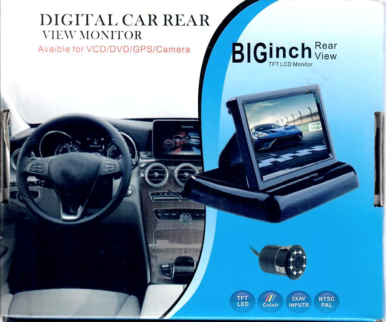 Digitale Rückfahrkamera mit TFT LCD Monitor zum Selbsteinbau : Neuware : Komplettset, mit Kabeln digital car rear view monitor avaible for VCD/DVD/GPS/Camera : für das besondere tuning :