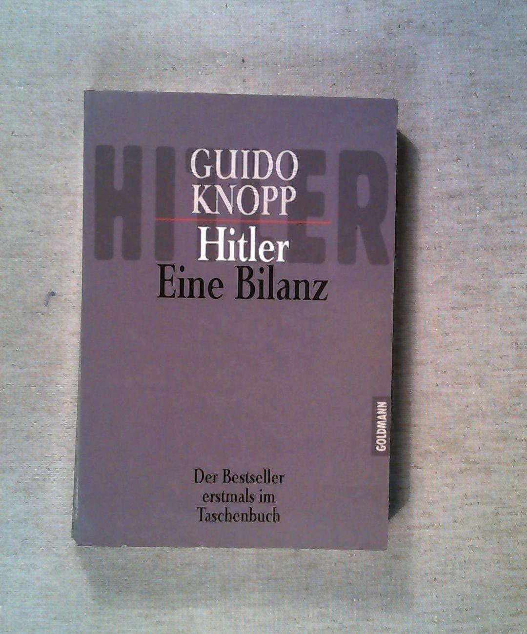 Hitler - Eine Bilanz: Der Bestseller erstmals im Taschenbuch