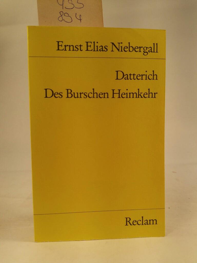 Datterich - Meid, Volker und E Niebergall Ernst