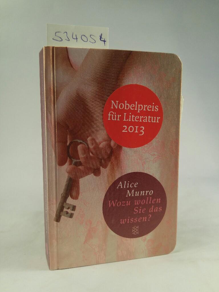 Wozu wollen Sie das wissen? Elf Geschichten aus meiner Familie / Fischer TaschenBibliothek 2. Auflage - Munro, Alice und Heidi Zerning