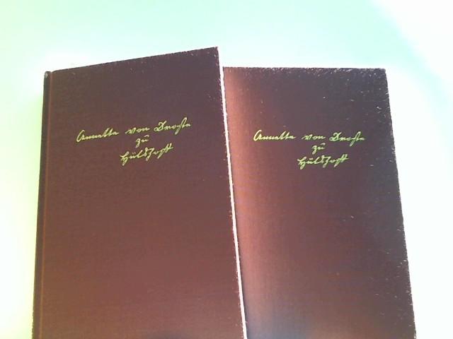 Droste-Hülhoff, Annette von: Gesammelte Schriften in zwei Bänden. Bibliothek der Weltliteratur; Deutsche Klassiker Band 1 und 2