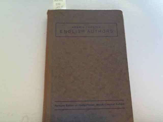 English Authors with biographical notices 3. Auflage/Edition